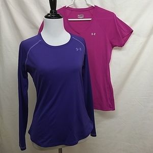 Under Armour Heat Gear Tops Lot of 2